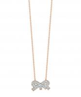 tiny diamond bow necklace