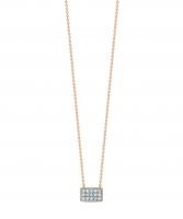 tiny diamond rectangle necklace