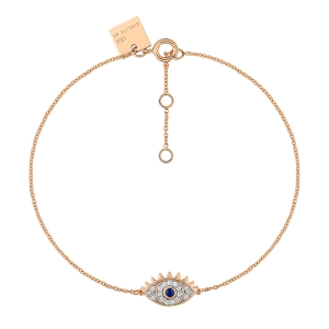 18 carat rose gold bracelet sapphire and diamondsby Ginette NY