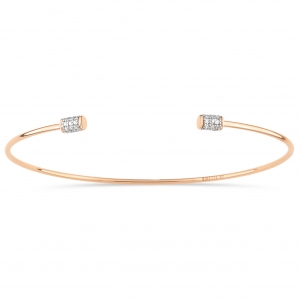 bracelet or rose 18 carats et diamants  by Ginette NY