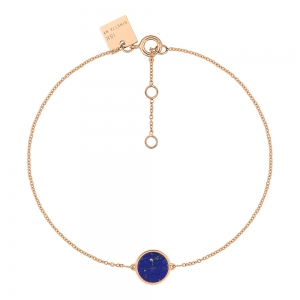 18 carat rose gold bracelet and lapisby Ginette NY