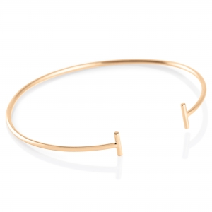 18 carat rose gold bangle  Ginette NY