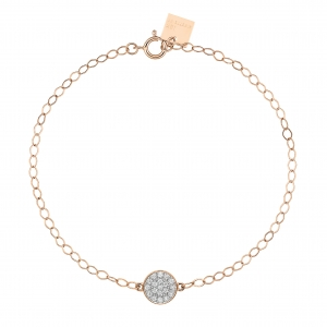 18 carat rose gold bracelet with diamondsby Ginette NY