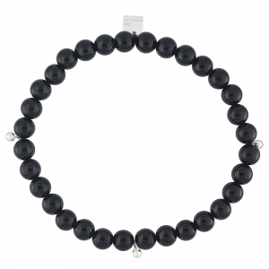18 carat white gold and onyx bracelet Ginette NY