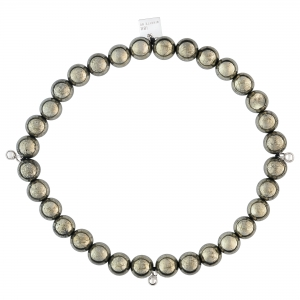 18 carat white gold and pyrite  bracelet Ginette NY