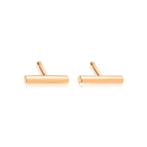 18 carat rose gold earrings  Ginette NY