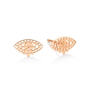 18 carat rose gold studsby Ginette NY