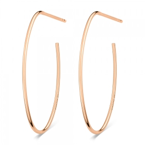 18 carat rose gold hoopsby Ginette NY