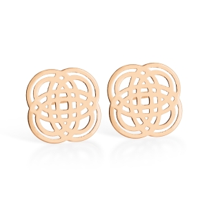 18 carat rose gold earrings