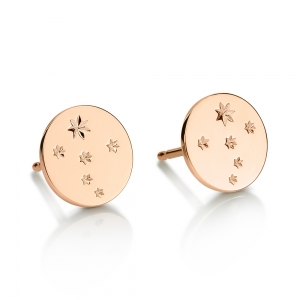 boucles d'oreilles or rose 18 caratsby Ginette NY