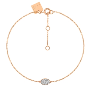 18 carat rose gold bracelet and diamonds by Ginette NY