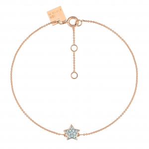 18k rose gold bracelet and diamondsby Ginette NY
