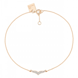18 carat rose gold and diamonds bracelet Ginette NY