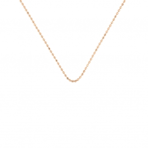 18 carat rose gold cut ball chainby Ginette NY