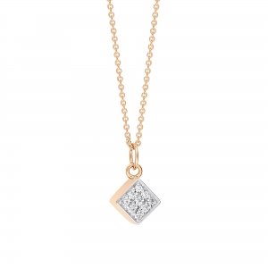 18 carat rose gold and diamonds  by Ginette NY
