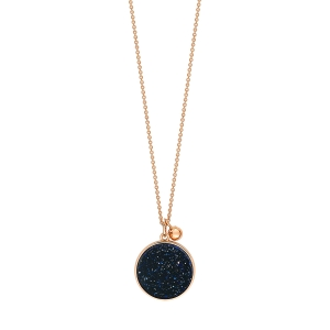 18 carat rose gold necklace and blue sand stoneby Ginette NY