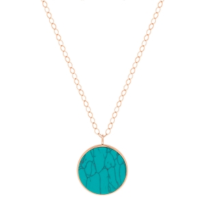 jumbo ever turquoise disc on chain