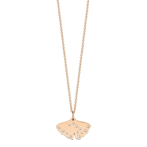 18 carat rose gold and diamonds necklaceby Ginette NY