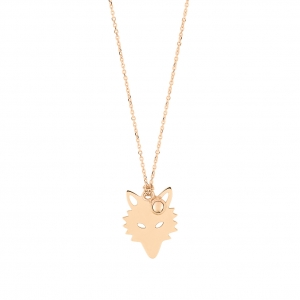 18 carat rose gold necklace