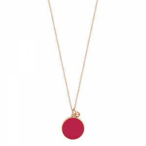 collier or rose 18 carats et corail rougeby Ginette NY