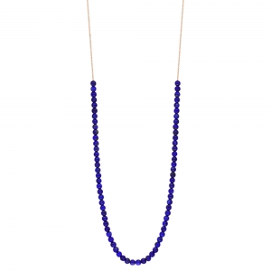 18 carat rose gold necklace and lapis by Ginette NY