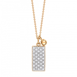 collier or rose 18 carats avec diamants by Ginette NY