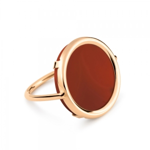 18 carat rose gold and carnelian ring by Ginette NY