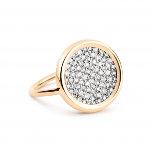 bague or rose 18 carats et diamants (0,548 ct) by Ginette NY