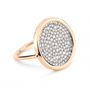 18 carat rose gold and diamonds (0,859 ct) ring by Ginette NY