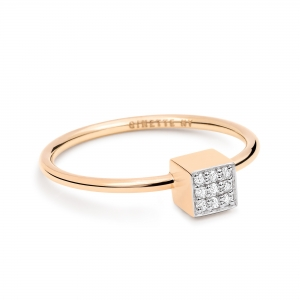 18 carat rose gold and diamonds ring by Ginette NY