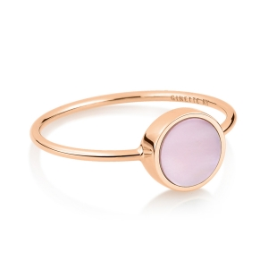 18 carat rose gold ring and pink MOPby Ginette NY