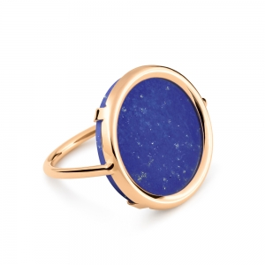 18 carat rose gold and lapis ring by Ginette NY