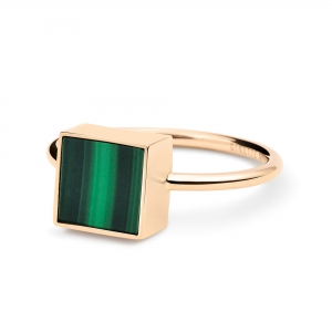 ever malachite square ring