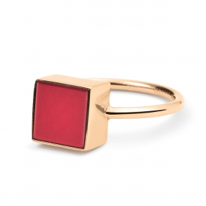 ever red jasper square ring