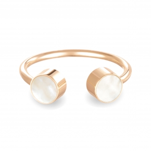 double pearl cabochon ring