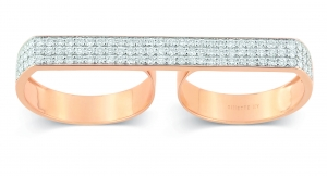 18k rose gold ring and diamondsby Ginette NY