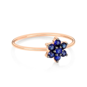 18 carat rose gold ring and sapphiresby Ginette NY