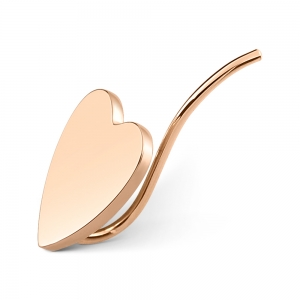 18 carat rose gold solo earringby Ginette NY