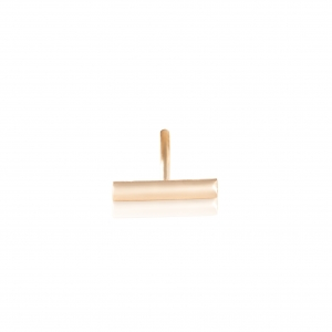 18 carat rose gold solo stud with diamondsby Ginette NY