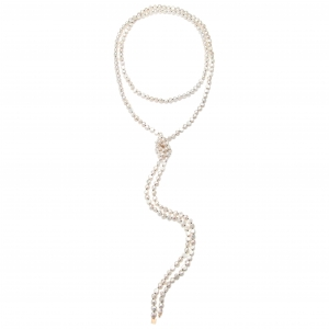 18 carat rose gold and pearls necklace  Ginette NY