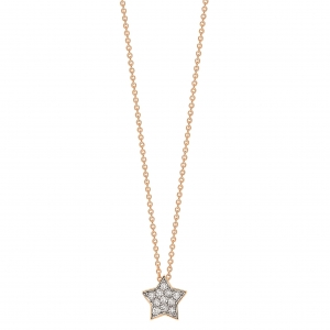 18k rose gold necklace and diamondsby Ginette NY