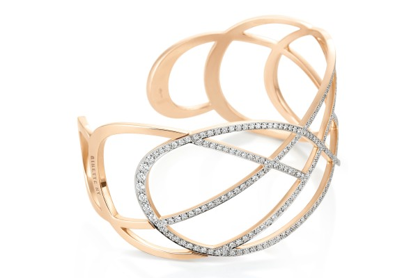 Volute diamond cuff