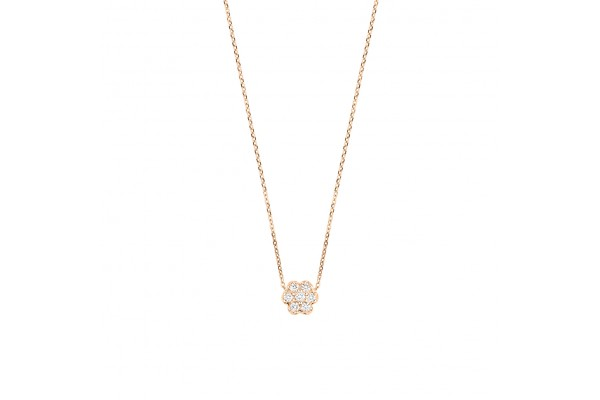 mini diamond lotus on chain